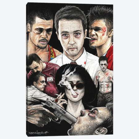 Fight Club IV Canvas Print #IIK16} by Inked Ikons Art Print