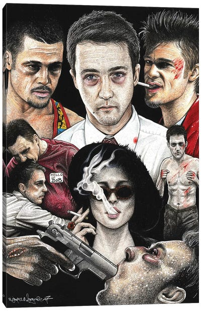Fight Club IV Canvas Art Print