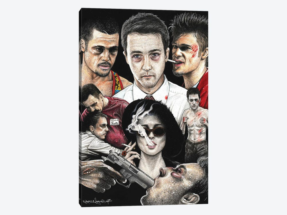 Fight Club IV by Inked Ikons 1-piece Canvas Wall Art