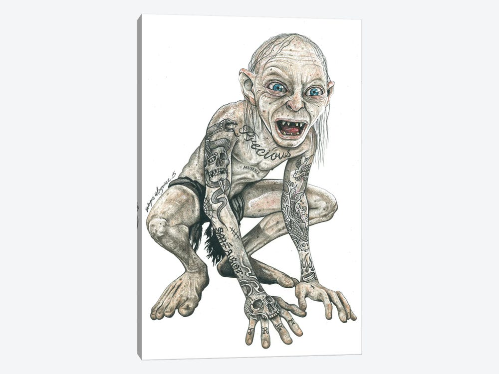 Gollum by Inked Ikons 1-piece Canvas Artwork