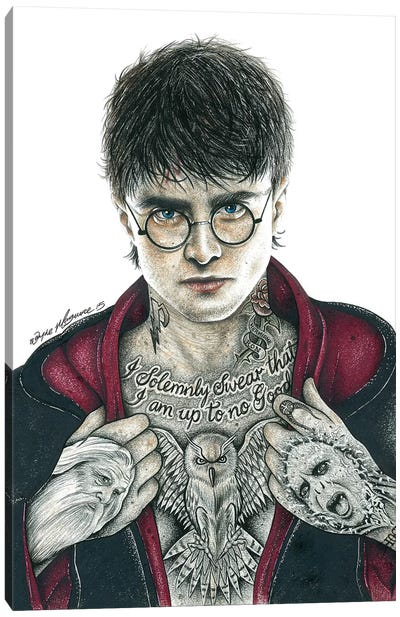 Harry P. Canvas Art Print