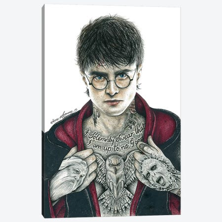 Harry P. Canvas Print #IIK19} by Inked Ikons Canvas Wall Art