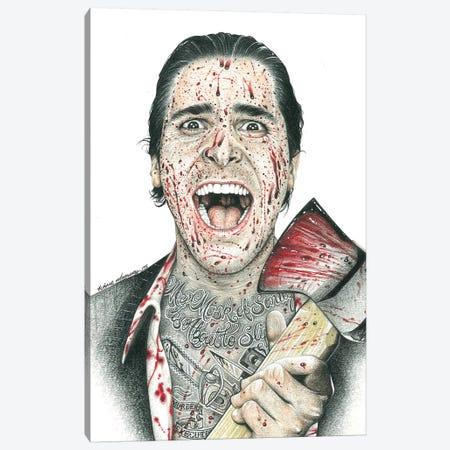 American Psycho Canvas Print #IIK1} by Inked Ikons Art Print