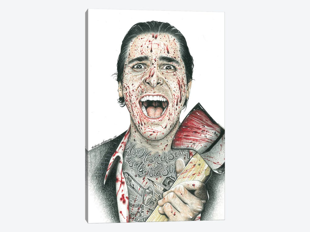 American Psycho by Inked Ikons 1-piece Canvas Artwork
