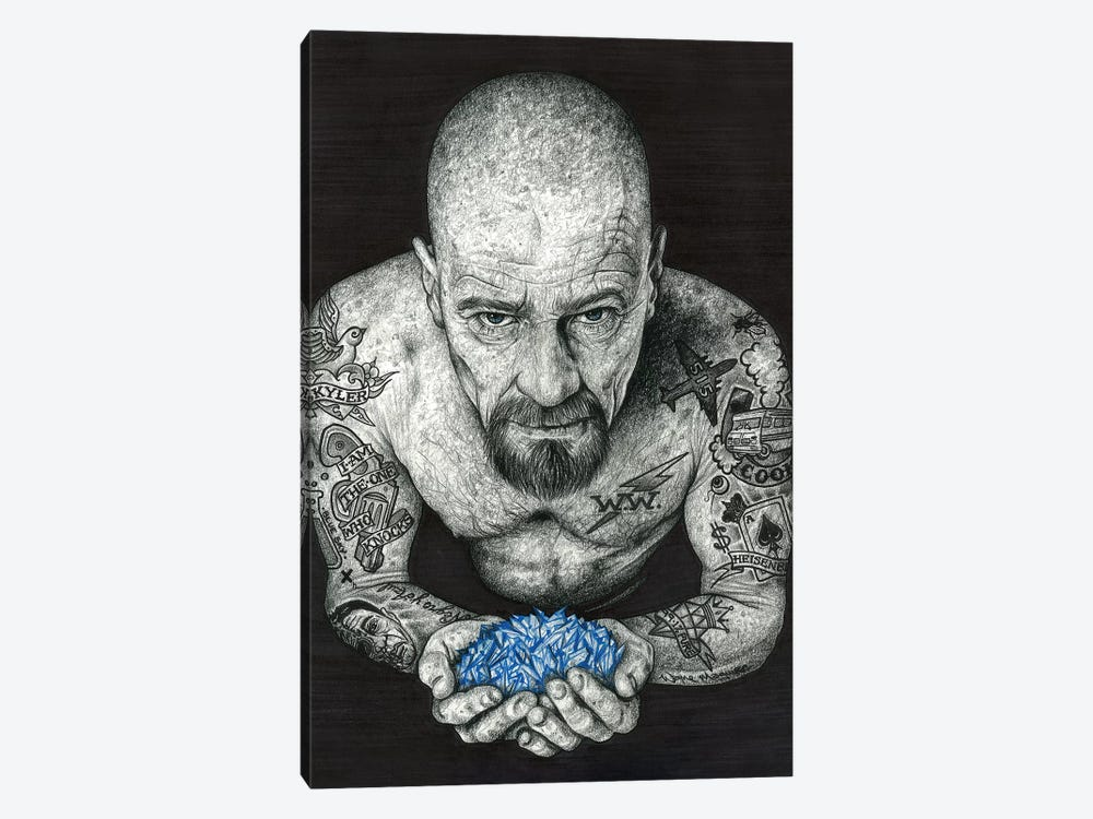 Heisenberg by Inked Ikons 1-piece Canvas Art Print