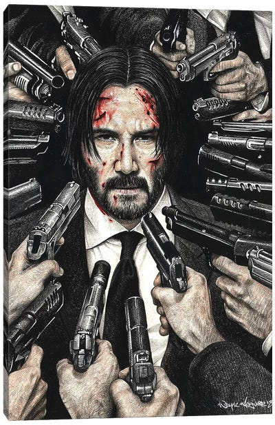 John Wick Canvas Art Print