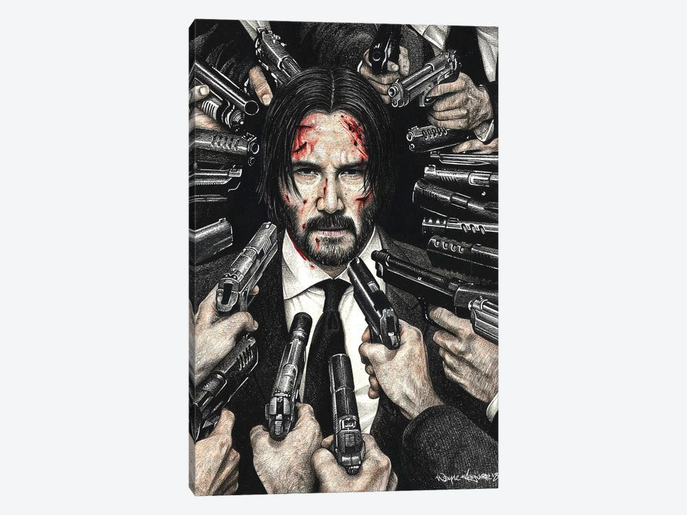 John Wick by Inked Ikons 1-piece Canvas Wall Art