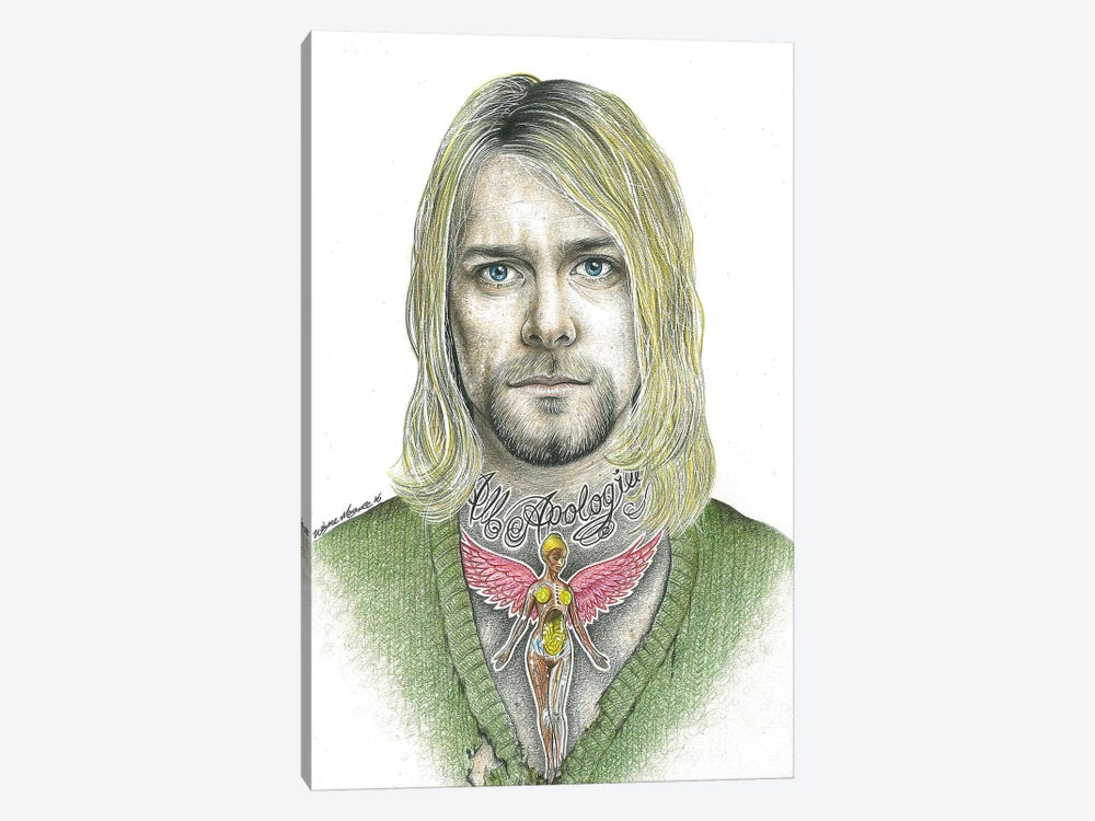 Kurt Cobain by Inked Ikons 1-piece Canvas Artwork