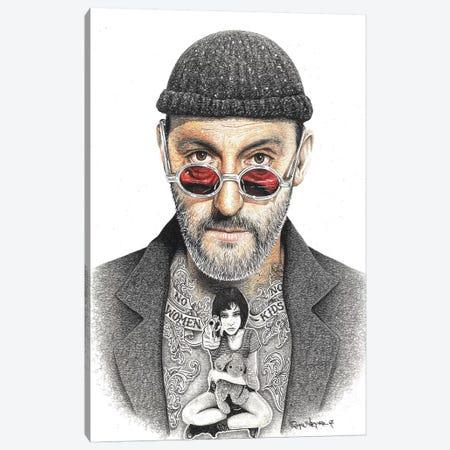 Leon Canvas Print #IIK26} by Inked Ikons Canvas Wall Art