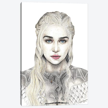 Mother Of Dragons Canvas Print #IIK28} by Inked Ikons Canvas Art Print