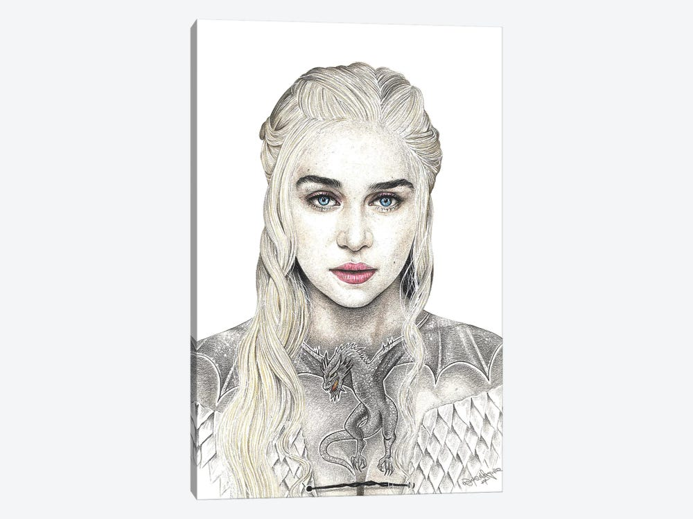 Mother Of Dragons by Inked Ikons 1-piece Canvas Print