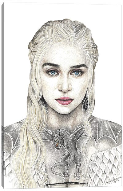 Mother Of Dragons Canvas Art Print