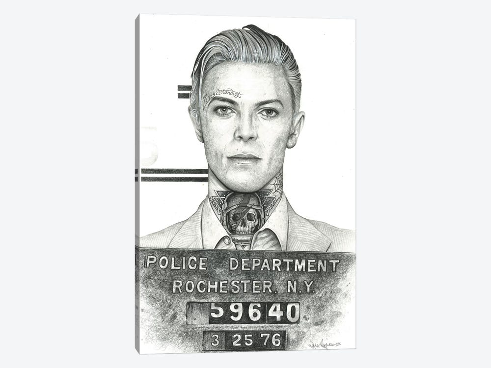 Mugshot Bowie by Inked Ikons 1-piece Canvas Wall Art