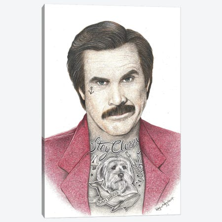 Anchorman Canvas Print #IIK2} by Inked Ikons Canvas Art Print