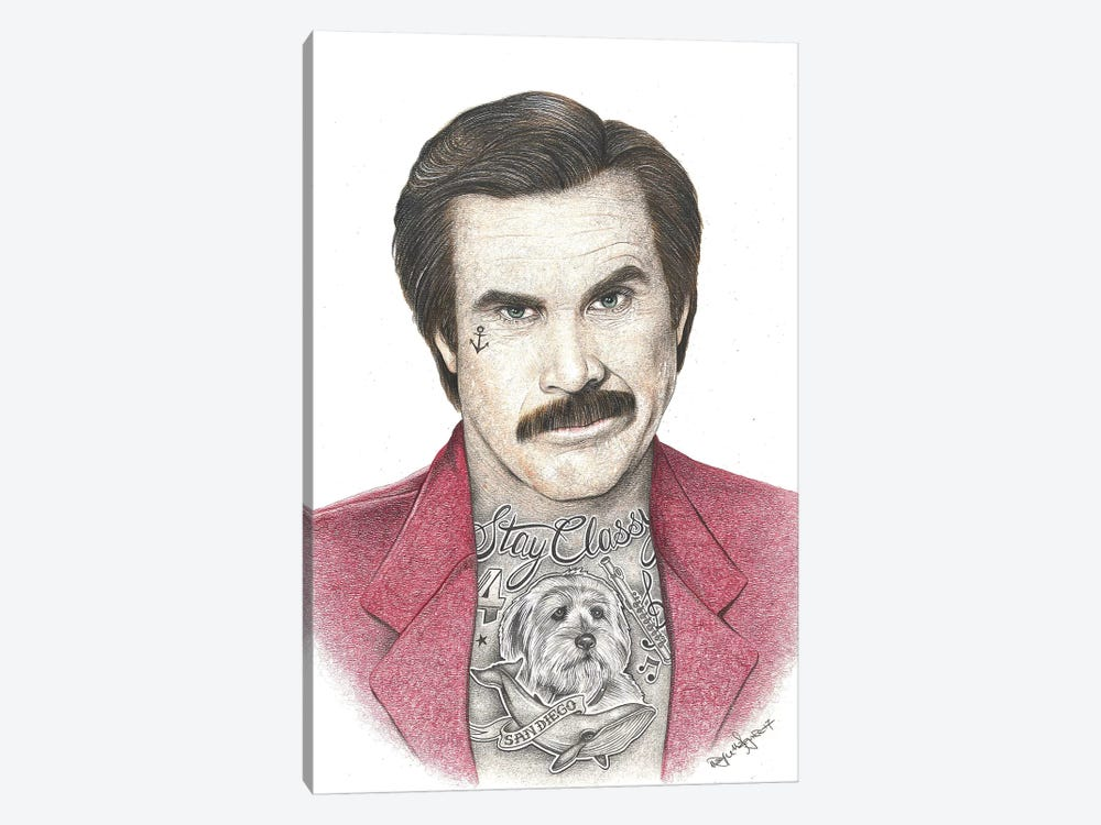 Anchorman by Inked Ikons 1-piece Art Print
