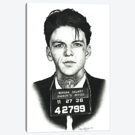 Mugshot Sinatra Canvas Print #IIK30} by Inked Ikons Canvas Wall Art
