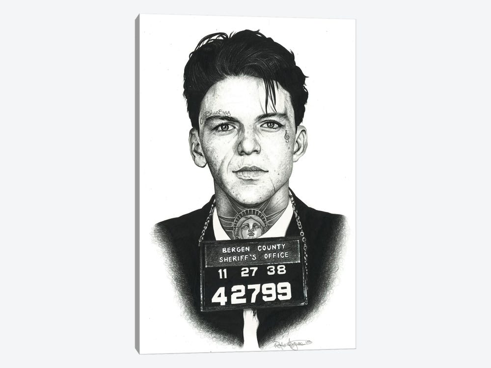 Mugshot Sinatra by Inked Ikons 1-piece Canvas Art