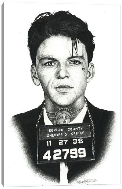 Mugshot Sinatra Canvas Art Print