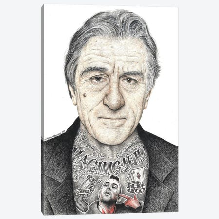 OG De Niro Canvas Print #IIK31} by Inked Ikons Canvas Artwork