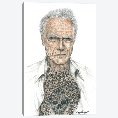 OG Eastwood Canvas Print #IIK32} by Inked Ikons Canvas Artwork