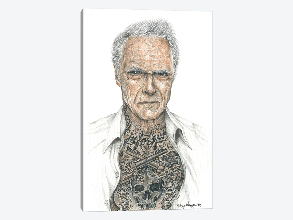 OG Eastwood by Inked Ikons 1-piece Canvas Art
