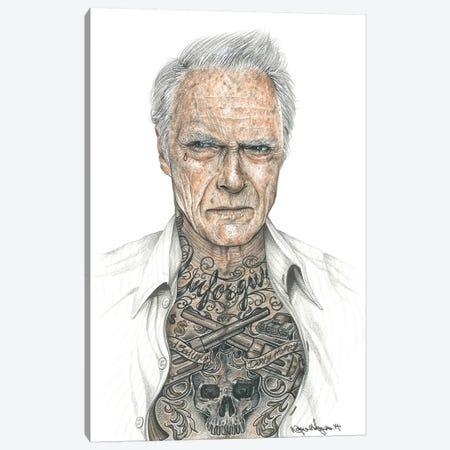 OG Eastwood Canvas Print #IIK32} by Inked Ikons Canvas Artwork