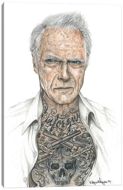 OG Eastwood Canvas Art Print