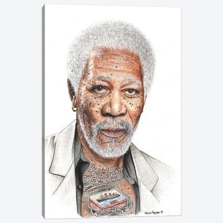 OG Freeman Canvas Print #IIK33} by Inked Ikons Canvas Art