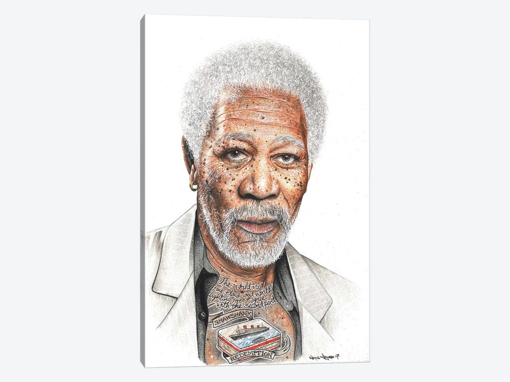 OG Freeman by Inked Ikons 1-piece Canvas Art Print
