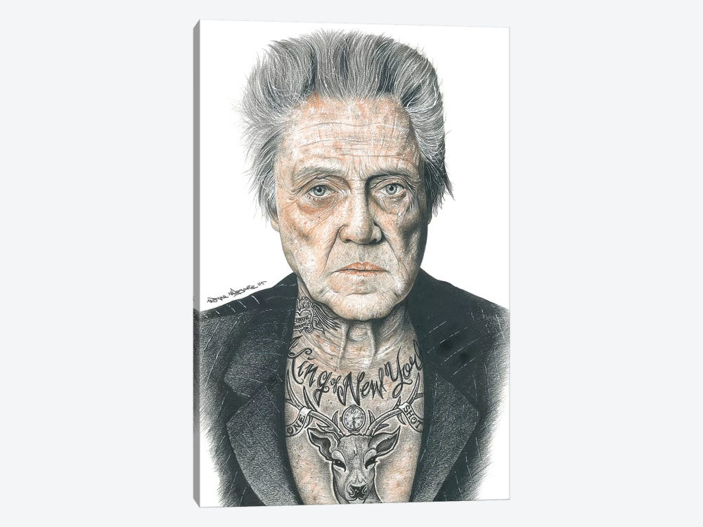 OG Walken by Inked Ikons 1-piece Canvas Wall Art