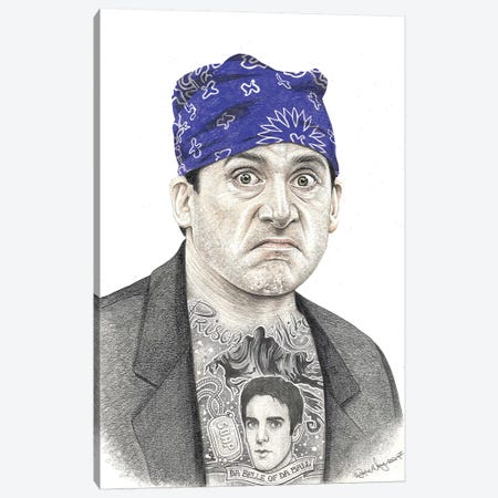 Prison Mike Canvas Print #IIK38} by Inked Ikons Canvas Artwork