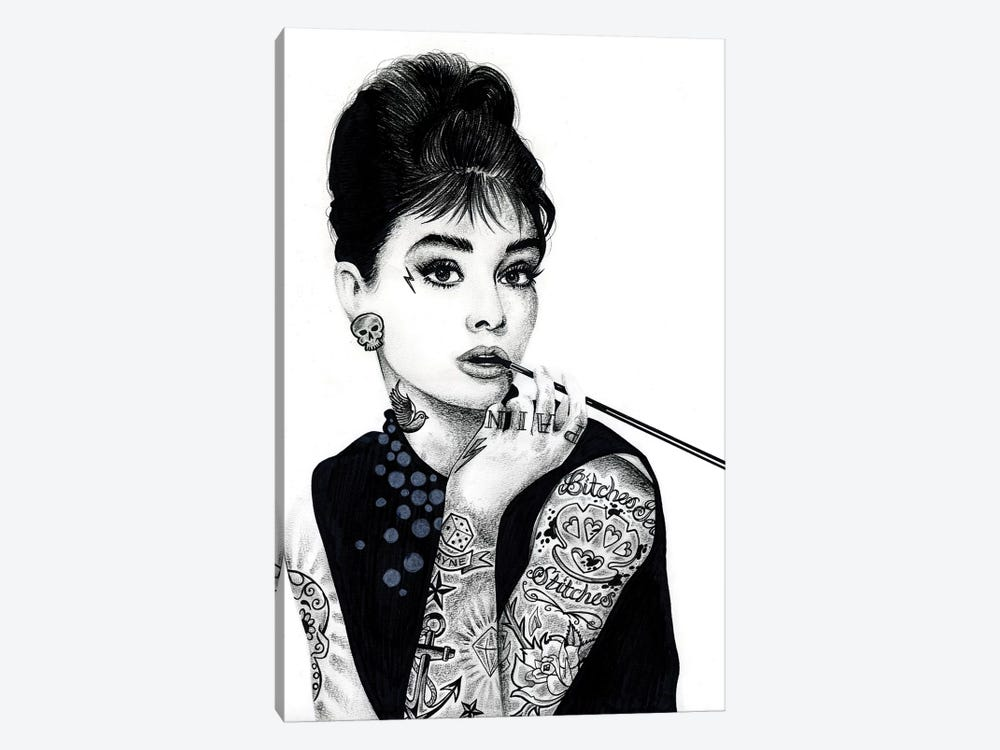 Audrey Hepburn by Inked Ikons 1-piece Canvas Artwork