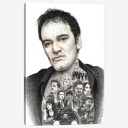 Tarantino Canvas Print #IIK41} by Inked Ikons Art Print