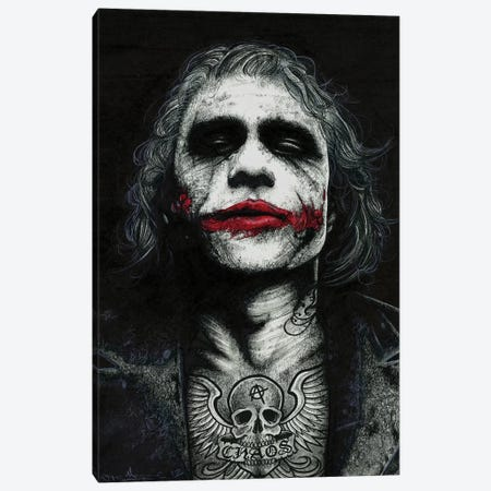 The Joker Canvas Print #IIK42} by Inked Ikons Art Print