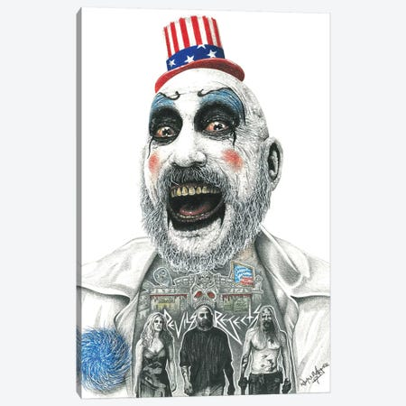 Captain Spaulding 3-Piece Canvas #IIK46} by Inked Ikons Canvas Art