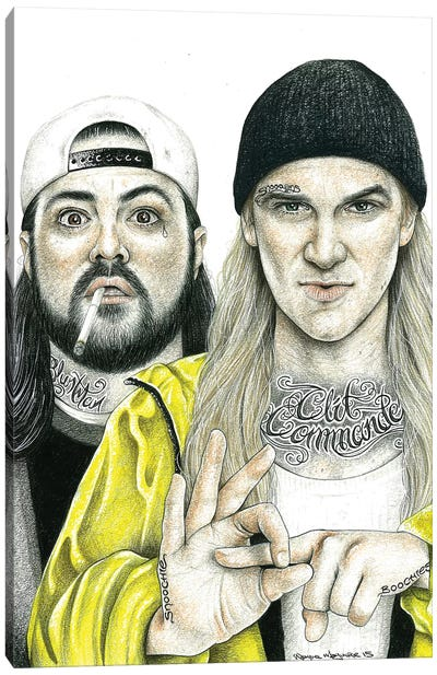 Jay & Silent Bob Canvas Art Print