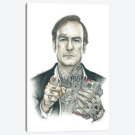 Saul Canvas Print #IIK53} by Inked Ikons Canvas Wall Art