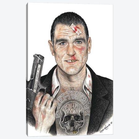 Bullet-Tooth Tony Canvas Print #IIK54} by Inked Ikons Art Print