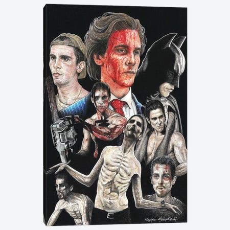 Christian Bale Canvas Print #IIK55} by Inked Ikons Art Print