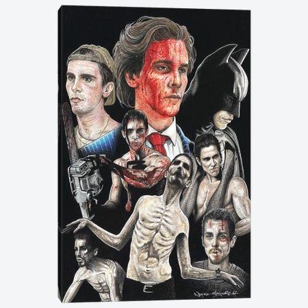 Christian Bale Canvas Print #IIK55} by Inked Ikons Art Print