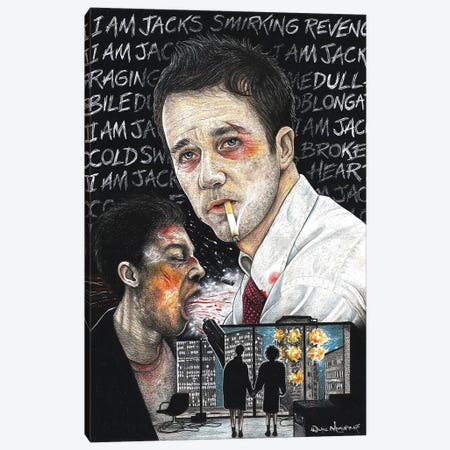 Fight Club I Canvas Print #IIK57} by Inked Ikons Canvas Art Print