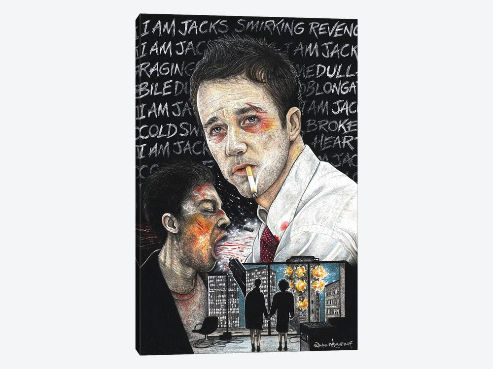 Fight Club I by Inked Ikons 1-piece Canvas Art Print