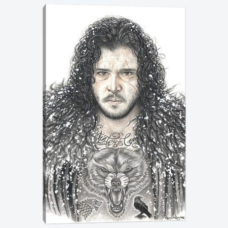 GOT Jon Snow Canvas Print #IIK58} by Inked Ikons Canvas Wall Art