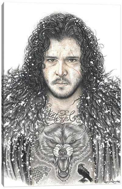 GOT Jon Snow Canvas Art Print