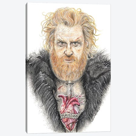 GOT Tormund Canvas Print #IIK59} by Inked Ikons Canvas Wall Art