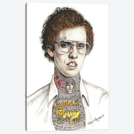 Napoleon Dynamite Canvas Print #IIK60} by Inked Ikons Canvas Art Print
