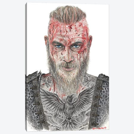 Ragnar Canvas Print #IIK61} by Inked Ikons Canvas Art Print