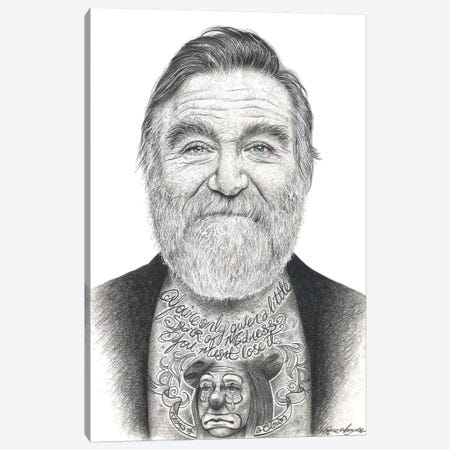 Robin Williams Canvas Print #IIK62} by Inked Ikons Canvas Art Print