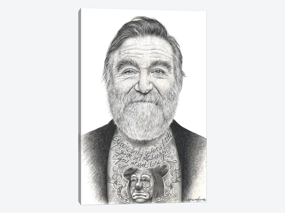 Robin Williams by Inked Ikons 1-piece Canvas Print