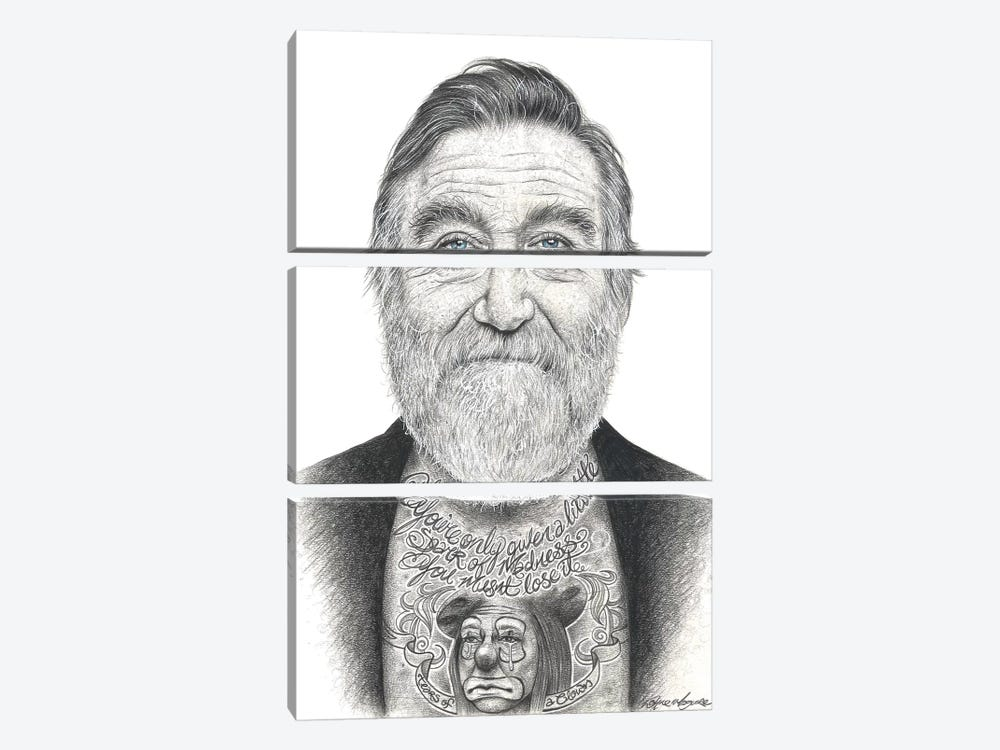 Robin Williams by Inked Ikons 3-piece Canvas Print